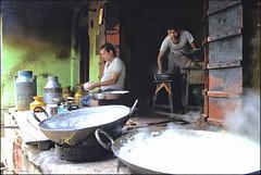 Des artisans au travail