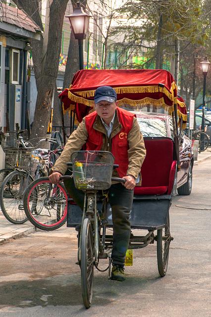 Rickshaw driver in Hutong