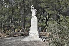 Statue of a Zealot – El-Muraqa Monastery, Daliyat al-Karmel, Israel