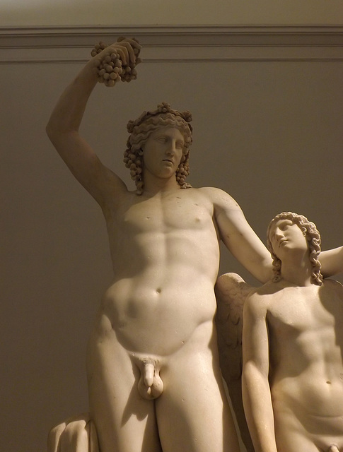 Detail of the Dionysos and Eros Statue Group in the Naples Archaeological Museum, July 2012