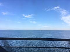 Auf der Öresundbrücke, 3.8. 2018