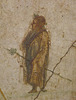 Detail of a Wall Painting from Pompeii with a Sacrifice to Dionysos in the Naples Archaeological Museum, July 2012