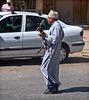 Musicien de rue a Taliouine (Maroc ).
