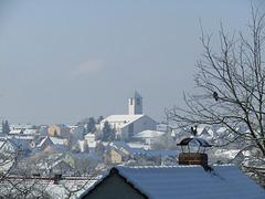 Blick zur Stadtpfarrkirche
