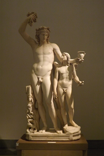 Dionysos and Eros Statue Group in the Naples Archaeological Museum, July 2012