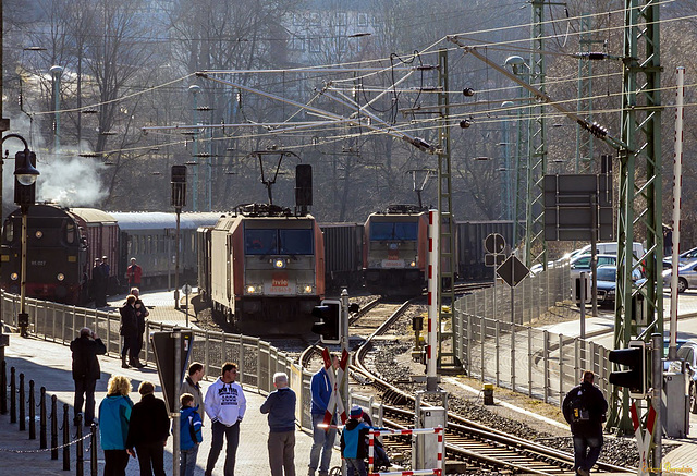 Viel los im Bahnhof Rübeland