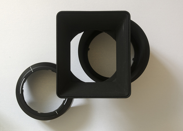 Structure with lens hoods