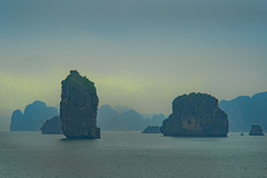 Halong Bay in sunset