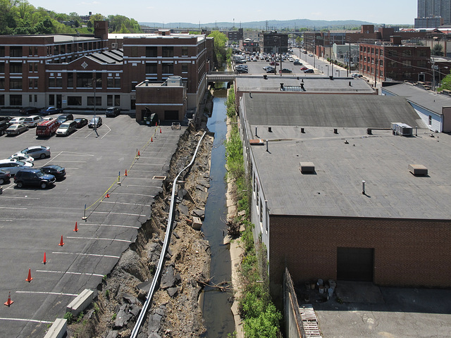 Paxton Creek is splitting the world in two in Harrisburg.