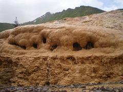 Limestone formations.