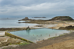 high pool at low tide