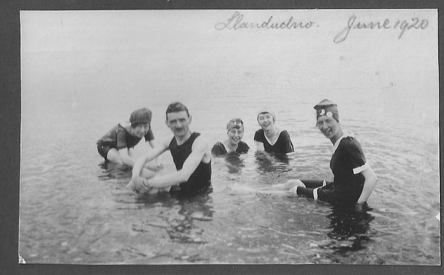 Phil's Grandpa Sadler with his wife & sisters-in-law - Llandudno - June 1920