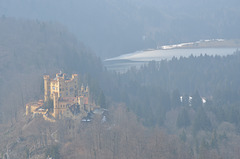 Schwansee and Hohenschwangau Castle