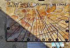 Balboutet : Una meridiana con i fusi orari