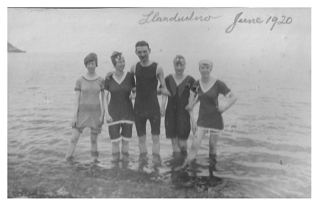 Phil's Grandpa Sadler & his wife & sisters-in-law - Llandudno June 1920