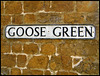 Goose Green sign