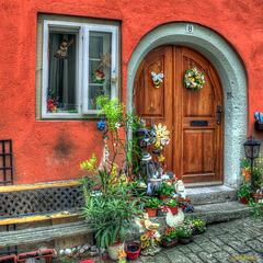 Haustür in Rotenburg o.d. Tauber