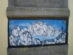 Painting on stone.