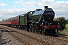 Stanier LMS class 6P Jubilee 45699 GALATEA running as 45562 ALBERTA with 1Z24 06.10 Carnforth - Scarborough The Scarborough Spa Express at Meads Lane crossing Seamer 3rd September 2020. (Steam from YorK)