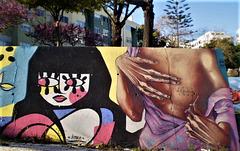 Street art by Pitanga and Mojojojo.