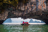 Tourist tour in small boat