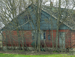 Day 3, old building on way to Hillman Marsh, Ontario