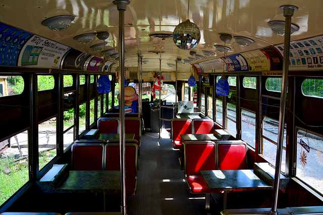 Canada 2016 – Halton County Radial Railway – Interior of a PCC car