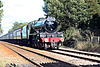 Stanier LMS class 6P Jubilee 45699 GALATEA running as 45562 ALBERTA at West Knapton Crossing with 1Z27 16.41 Scarborough - Carnforth The Scarborough Spa Express 3rd September 2020. (steam as far as York)