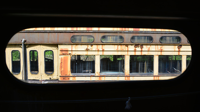 Canada 2016 – Halton County Radial Railway – View from the standee window