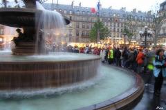 Une des fontaines du Théâtre Français
