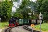 Zug der RüBB bei der Einfahrt in Sellin (Rügen)