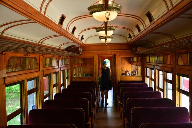 Canada 2016 – Halton County Radial Railway – Interior of London & Port Stanley Railway № 8