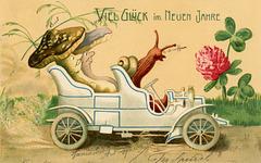 New Year Mushrooms and Snails—Viel Glück im Neuen Jahr