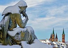 Walther von der Vogelweide -  blickt auf seine Stadt - looks at his City