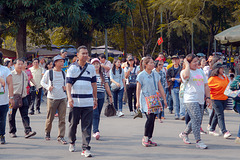 Group of tourists visiting Ho Chi Minh park
