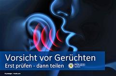 Averto de la saksa polico pri onidiroj: Unue kontrolu kaj nur poste publikigu!