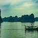 Halong bay in evening atmosphere