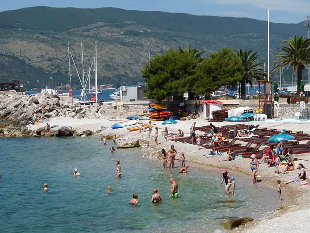 Beach at Herceg Novi