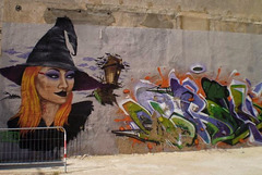Halloween street art.