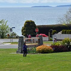 Beginn des Trans-Canada-Highway in Victoria, Vancouver Island