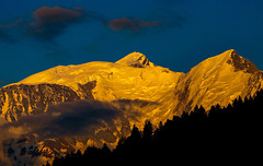 An evening view to the Mont Blanc
