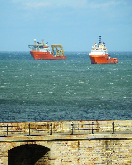 Moored offshore