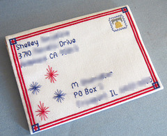 Patriotic Mailart (front) from Shelley 6/26/15