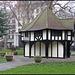 half-timbered gardener's hut