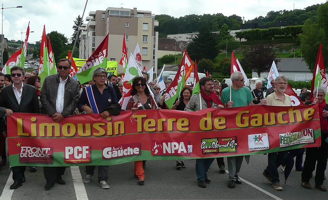 Gueret2015 banderole LimousinTerreDeGauche