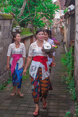 Walk to the temple ceremony