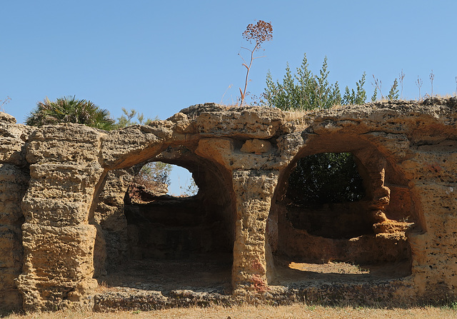 Greek fortifications with later Christian tombs