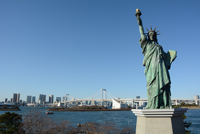 Japan, Statue of Liberty in Tokyo