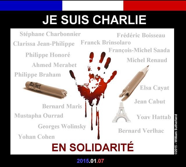 Je Suis Charlie (Please See Cartoons below)