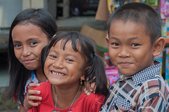 Bali kids at the street party